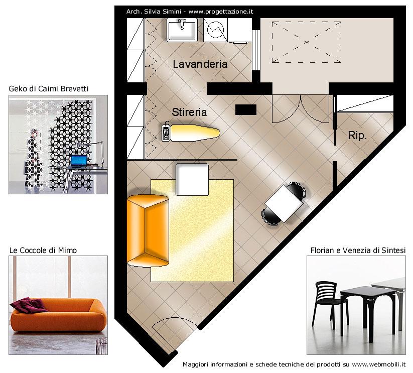 Divisorio Decorativo Ufficio Geko Caimi Brevetti : Progettazione arredamento