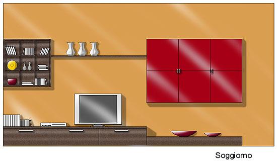 Colore Parete Camera Da Letto Wengè : Progettazione Arredamento