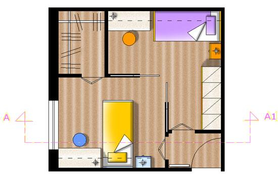 Progettazione arredamento for Pareti per dividere una stanza