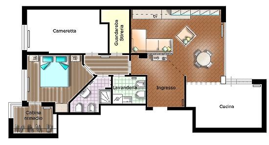 Progettazione arredamento for Progetti design interni