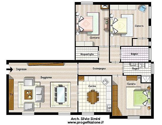 Separazione Ingresso Soggiorno ~ Idee per il design della casa