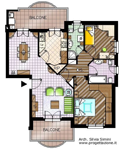 Progettazione arredamento for Progetti di casa fantastici