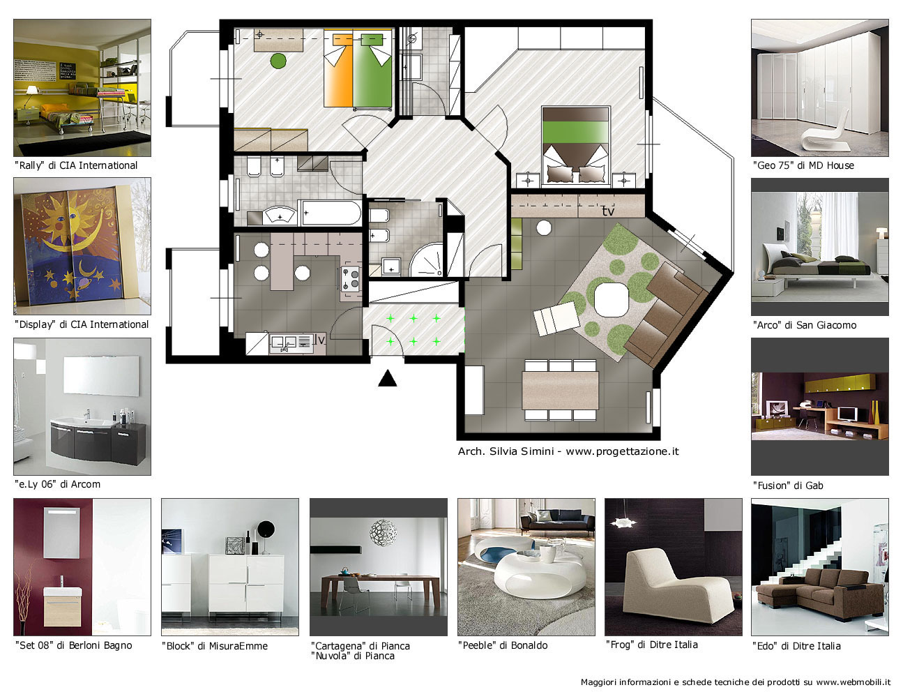 Progettazione arredamento - Camera da letto con cabina armadio e bagno ...