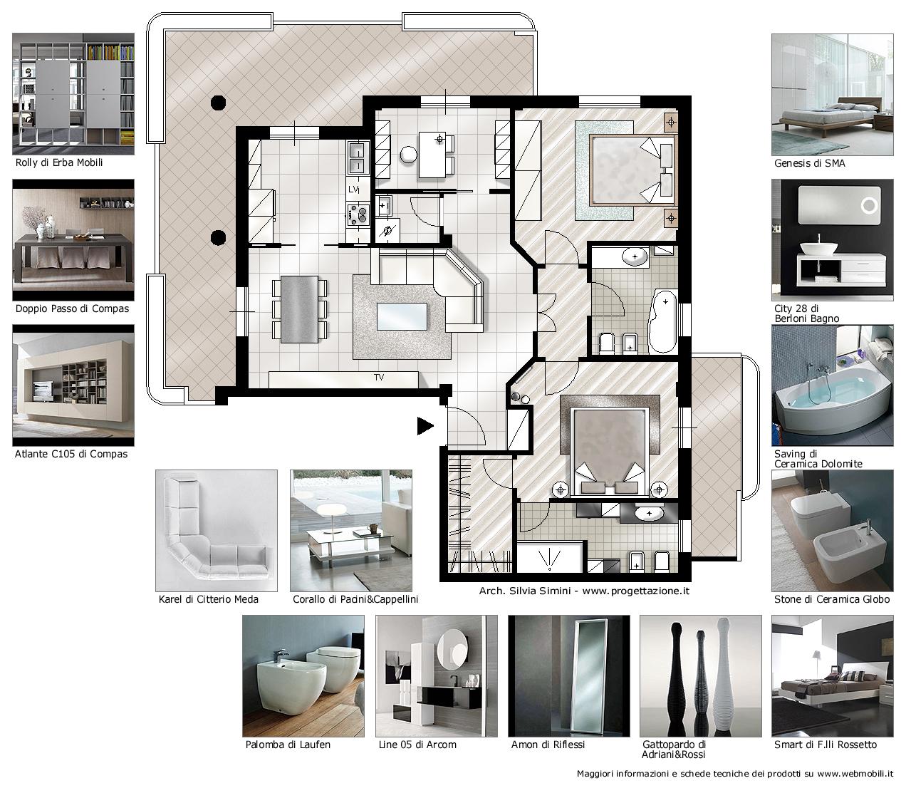 Progetto camera da letto idea creativa della casa e dell - Cabina armadio con bagno ...