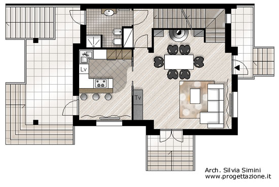 Casa moderna roma italy divani letto scontati for Progetti case interni