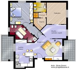 Studio progettazione interni e consulenze arredamenti for Progettare cameretta 3d